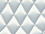 3D decorated white and light grey rhombuses in a repeating pattern. Futuristic geometric monochromatic design for backgrounds, templates, backdrops, surface, textile and fabric designs - 222964378