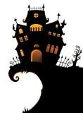 Halloween house silhouette theme 1