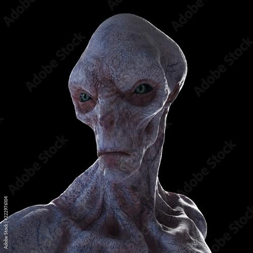 3d odpłacająca się ilustracja humanoid obcy