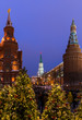 Leinwanddruck Bild - Christmas tree on Red square in Moscow Russia