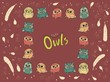 Cute Owls character. - 222981340
