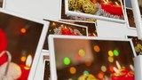 ots of Christmas cards flies on a white background. video collage. 3D rendering - 222985775
