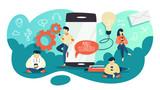 Mobile phone technology. Idea of digital progress - 222988569