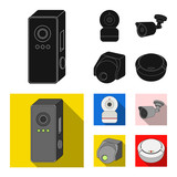 Vector illustration of cctv and camera symbol. Set of cctv and system vector icon for stock. - 222989590