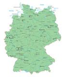 Karte von Deutschland - hoher Detailgrad - interaktiv