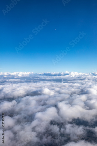 Sky view with clounds from above - 222990794