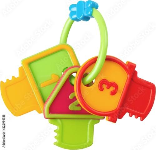 Grzechotka wykonana z kluczyków do zabawy