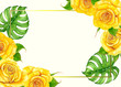 Yellow roses card - 223000376