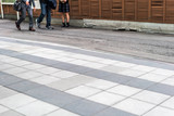 People at the tokyo street sidewalkDuring the day