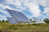solar panel on sky background in America - 223020199