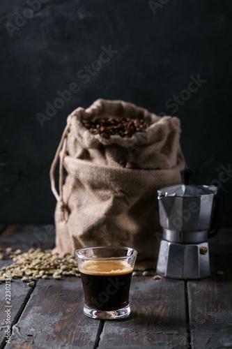 Sticker Fresh espresso coffee