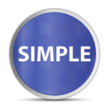 Simple blue round button - 223021950