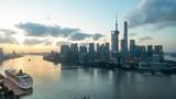 Time Lapsoe of the amazing Shanghai China skyline. - 223027356