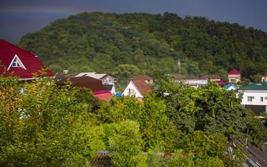 Rainbow over Mountain Housing