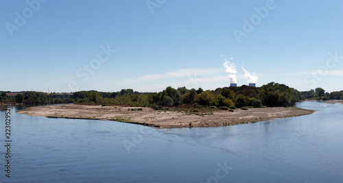 Nuclear power plant and Loire river banks