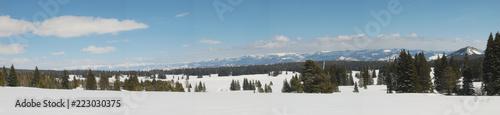winter mountain landscape - 223030375