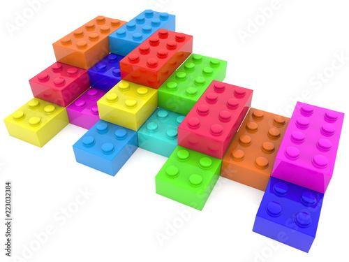 Toy cubes of different colours © lukasvideo