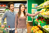 Couple shopping in a grocery store - 223040323