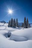 Winter in den Alpen - 223048596