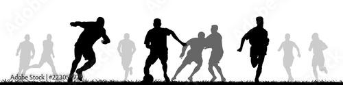 Fußballspieler auf dem Feld