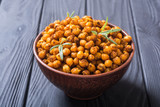 Roasted chickpeas with rosemary - 223063764