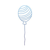 degraded outline fun balloon accessory with lines style - 223072997