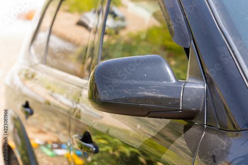 side mirror black car - 223081966