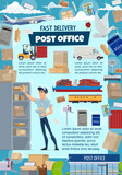 Postal service with mail delivery details - 223086963
