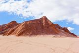 Area of Atacama Desert with sand that used for skiing fun. Sandy landscape of San Pedro de Atacama, Chile. - 223100516