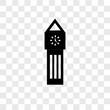 Big ben vector icon isolated on transparent background, Big ben logo design