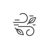 Wind and leaves outline icon. linear style sign for mobile concept and web design. Autumn leaves simple line vector icon. Symbol, logo illustration. Pixel perfect vector graphics - 223117907