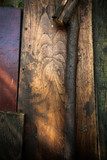 background and texture from wooden boards - 223121565