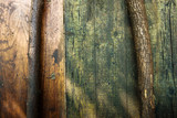 background and texture from wooden boards and sticks - 223121584