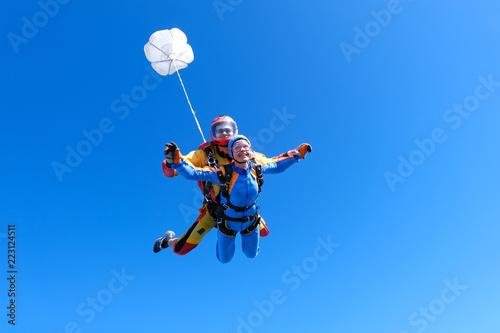 Skydiving. Tandem jump. © Sky Antonio