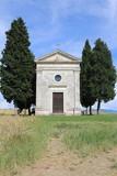 val D'Orcia, Cappella Vitaleta. Regione Toscana Itala