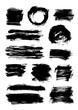Set of 13 scribble elements isolated on white