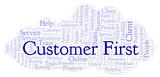 Customer First word cloud. - 223136743