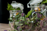 collection of dried herbs - 223142785