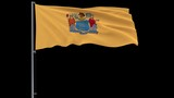 Flag of United States New Jersey, 4k prores 4444 footage with alpha - 223152786