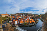 Cesky Krumlov cityscape in Czech Republic - 223161102