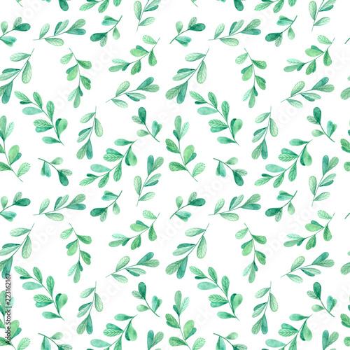 wiosna-wzor-liscie-na-bialym-tle-zielone-galezie-recznie-rysowane-ilustracji