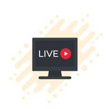Live stream video vector icon - 223163340