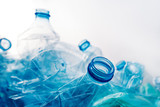 Crushed plastic bottles heap - 223169149