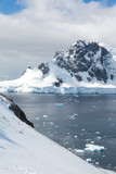 ice in the Antarctica with iceberg in the ocean - 223170390