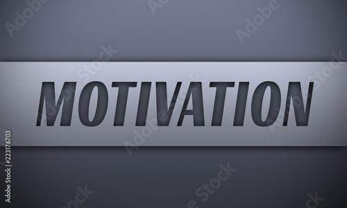 Fototapeta Motivation - word on silver background