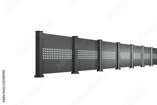 White Aluminium Panel : Laser cut powder coated aluminium panel or screen stark