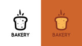 Bakery Logo with Bread in creative minimalistic style