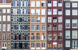 Urban background with residential building windows in Amsterdam, Netherlands - 223200384