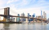 New York City skyscrapers and Brooklyn Bridge, USA - 223205168