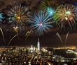Quadro Fireworks over New York City skyscrapers